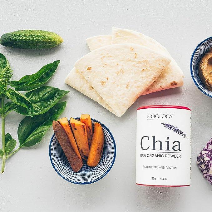 Polvo de Chia Bio 125g - Rico en Proteínas y Fibra - Sin ...