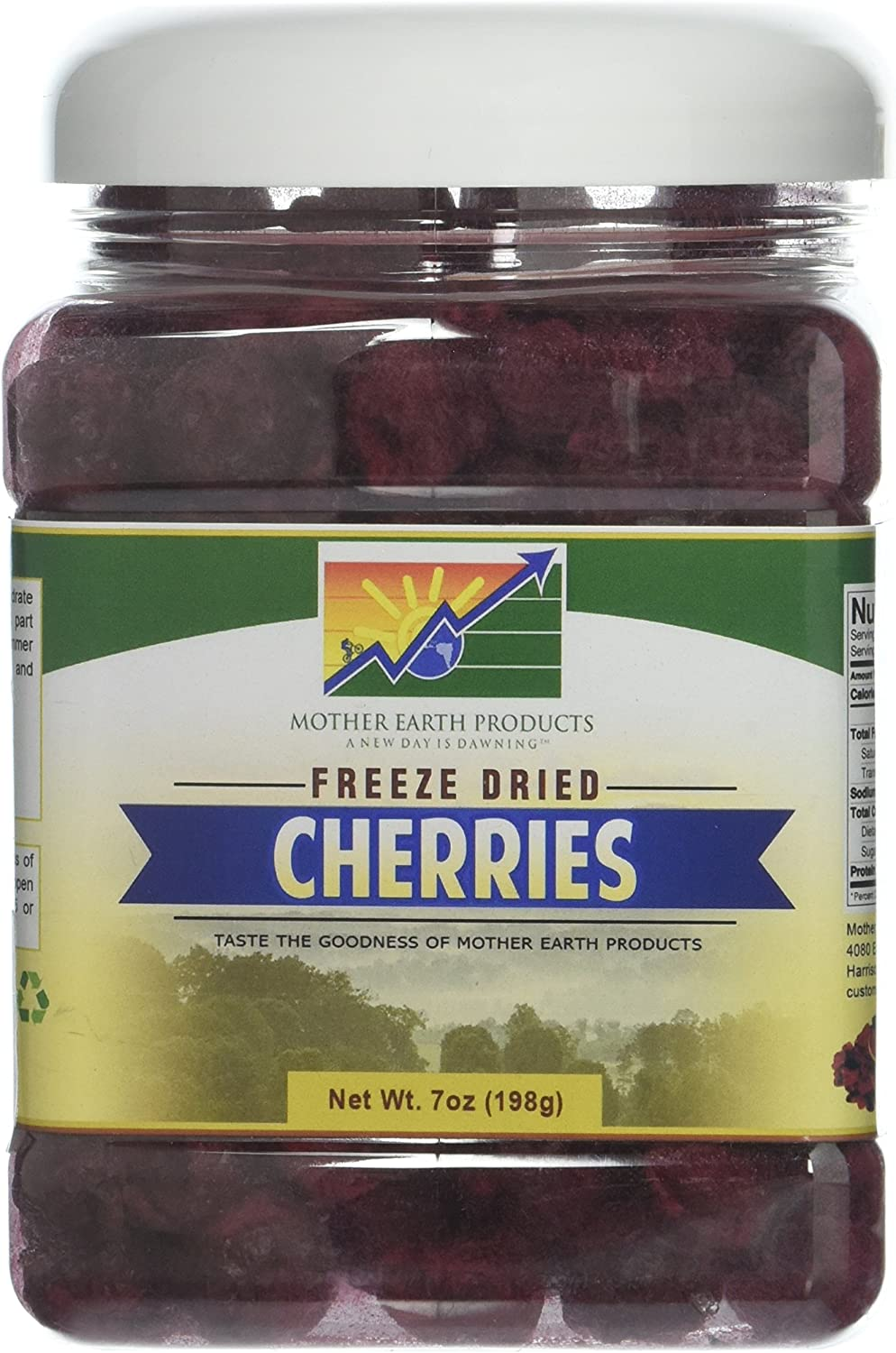 Mother Earth Products Freeze Dried Cherries, 7oz Jar