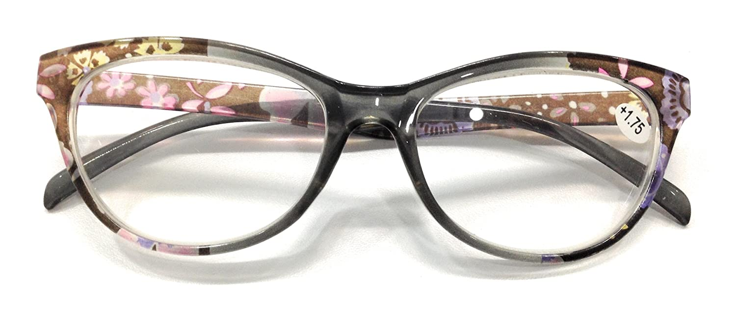 e7231156560d Amazon.com  Reading Glasses for Women Readers 1.75 Fashion Cat Eye  Eyeglasses Ladies Magnifying by V V  Health   Personal Care