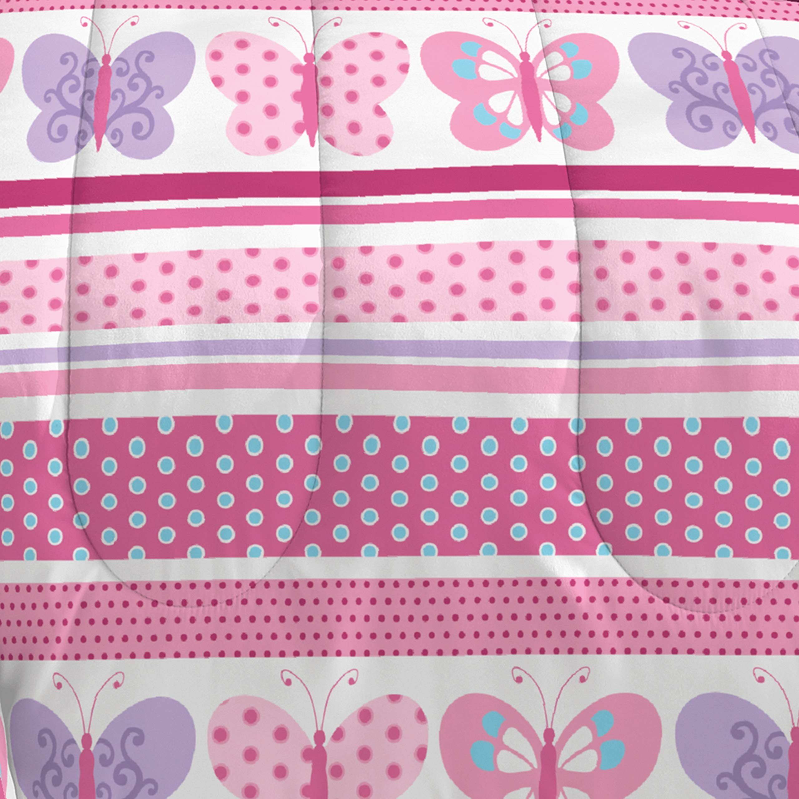 Dream Factory Butterfly Dots Ultra Soft Microfiber Girls Comforter Set, Pink, Twin by Dream Factory (Image #2)