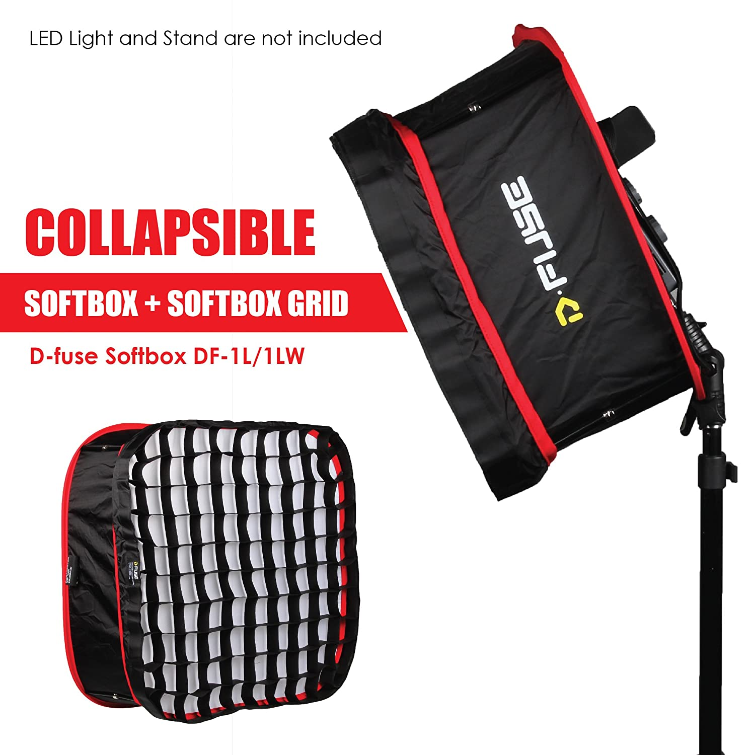812suQ6hTYL._SL1500_ amazon com kamerar d fuse combo large led light panel softbox SoftFuse Premium at edmiracle.co