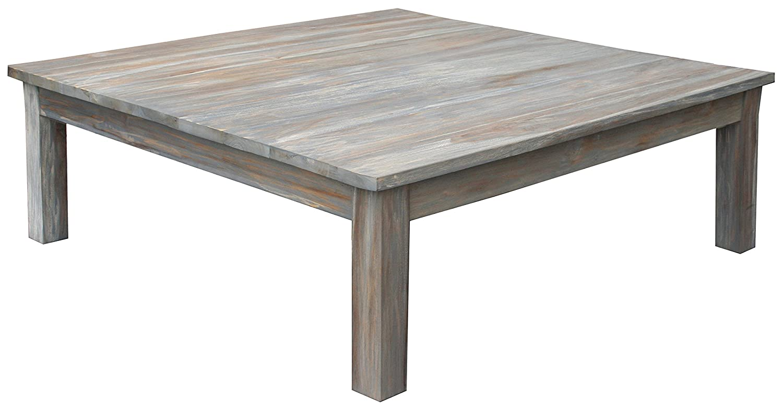 48 X 48 Coffee Table.Amazon Com Teak Grey Wash Rustic Coffee Table 48 X 48 Made By