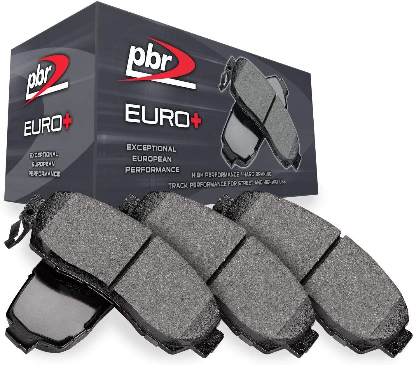 Front or Rear PBR Euro+ Brake Pads-Hybrid Brake Pad Compound 3452-0030-00