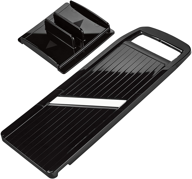 Kyocera Advanced Ceramic Wide Adjustable Slicer with Handguard, Black