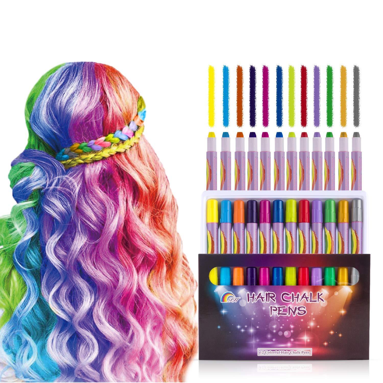 Amazon.com MSDADA 12 Color Hair Chalk for Teen Girls Kids ...