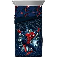 Marvel Spiderman 'Saving The Day' Microfiber 3 Piece Twin Sheet Set, Blue T/F, Twin/Full