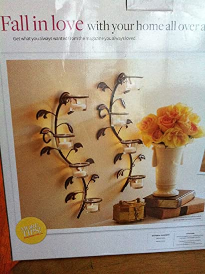 Amazon better homes and gardens vine and leaf tealight wall better homes and gardens vine and leaf tealight wall sconces set of 2 aloadofball Choice Image