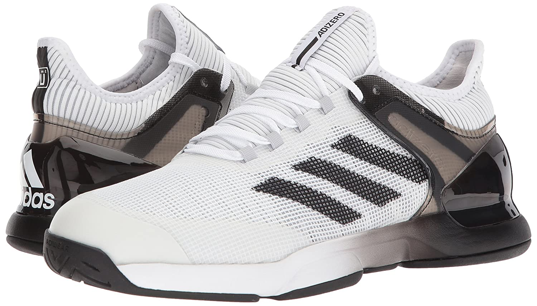 online store bc5bb 0fa41 Zapatillas de tenis adidas Adizero Ubersonic 2, de hombre Blanco   Core  Negro   Gris Dos
