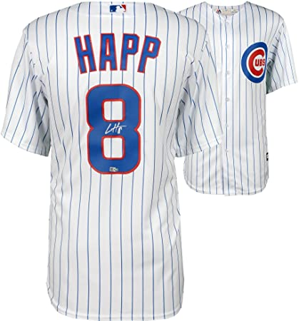 1691f6ac2cc Image Unavailable. Image not available for. Color  Ian Happ Chicago Cubs  Autographed Majestic White Replica Jersey ...