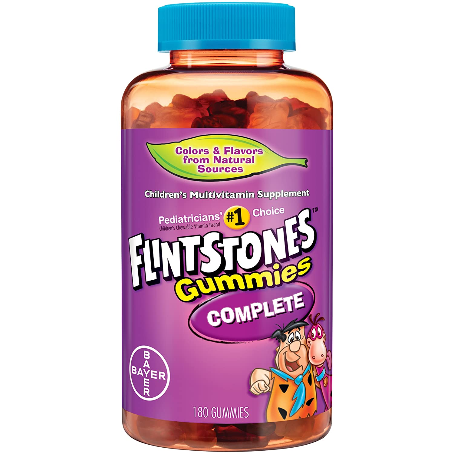 Amazon.com: Flintstones Childrens Complete Multivitamin Gummies, 180 Count (3 Pack) WEDF: Health & Personal Care