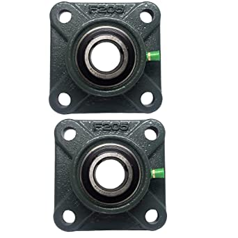 Pgn Ucf205 16 Pillow Block Square Flange Mounted Bearing 1 Bore 2 Pcs Amazon Com Industrial Scientific