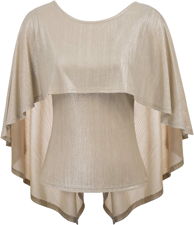 GRACE KARIN Camiseta de MurciéLago de Verano de Mujer Tops Camiseta Escote CláSico DiseñO