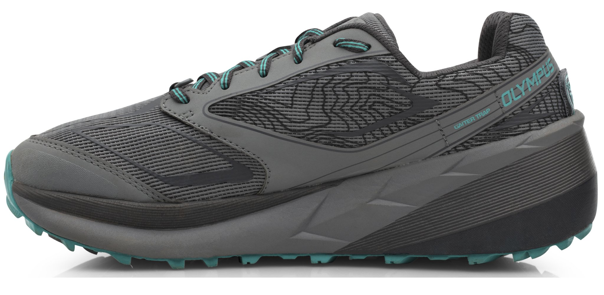 Altra AFW1859F Women's Olympus 3 Trail Running Shoe, Gray/Teal - 10.5 B(M) US by Altra (Image #2)