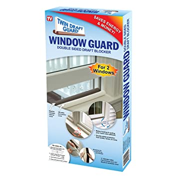 Twin Draft Guard - Window Guards, Twin Pack