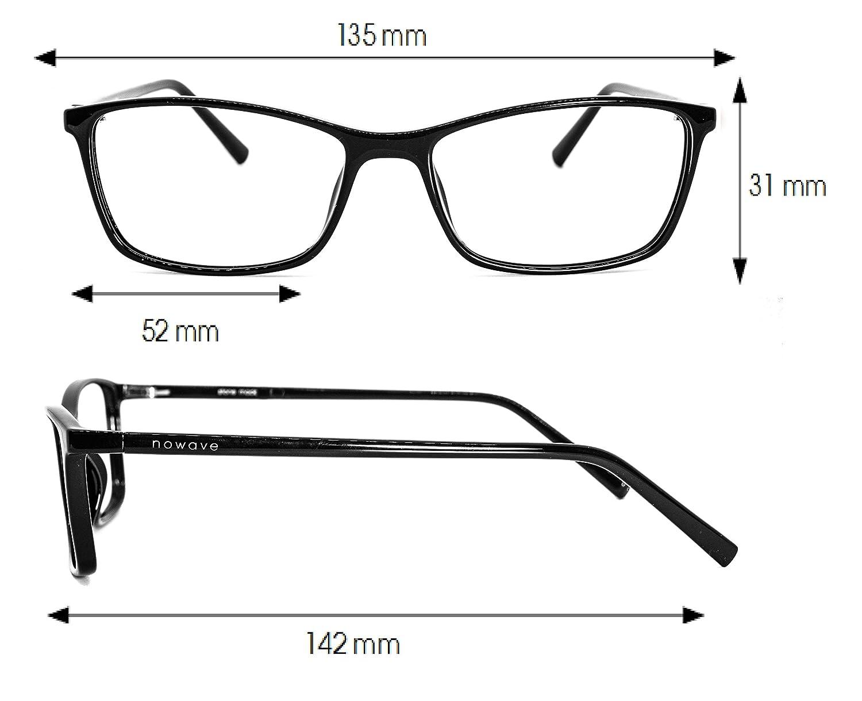 NOWAVE Gafas Neutras para PC, Smartphone, TV y Gaming | Eliminan la fatiga y la irritación visual | Gafas ANTI LUZ AZUL y UV para Pantalla | Filtro luz azul ...