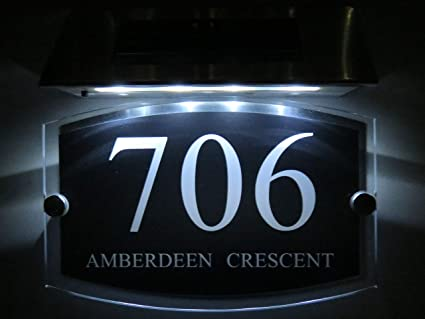 ac165f249837 Image Unavailable. Image not available for. Color: Personalised! Modern House  Signs Plaques Door Numbers ...