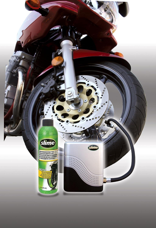 Juego de neum/áticos para Reparar neum/áticos de Motos y compresor Slime 10915 237 ml