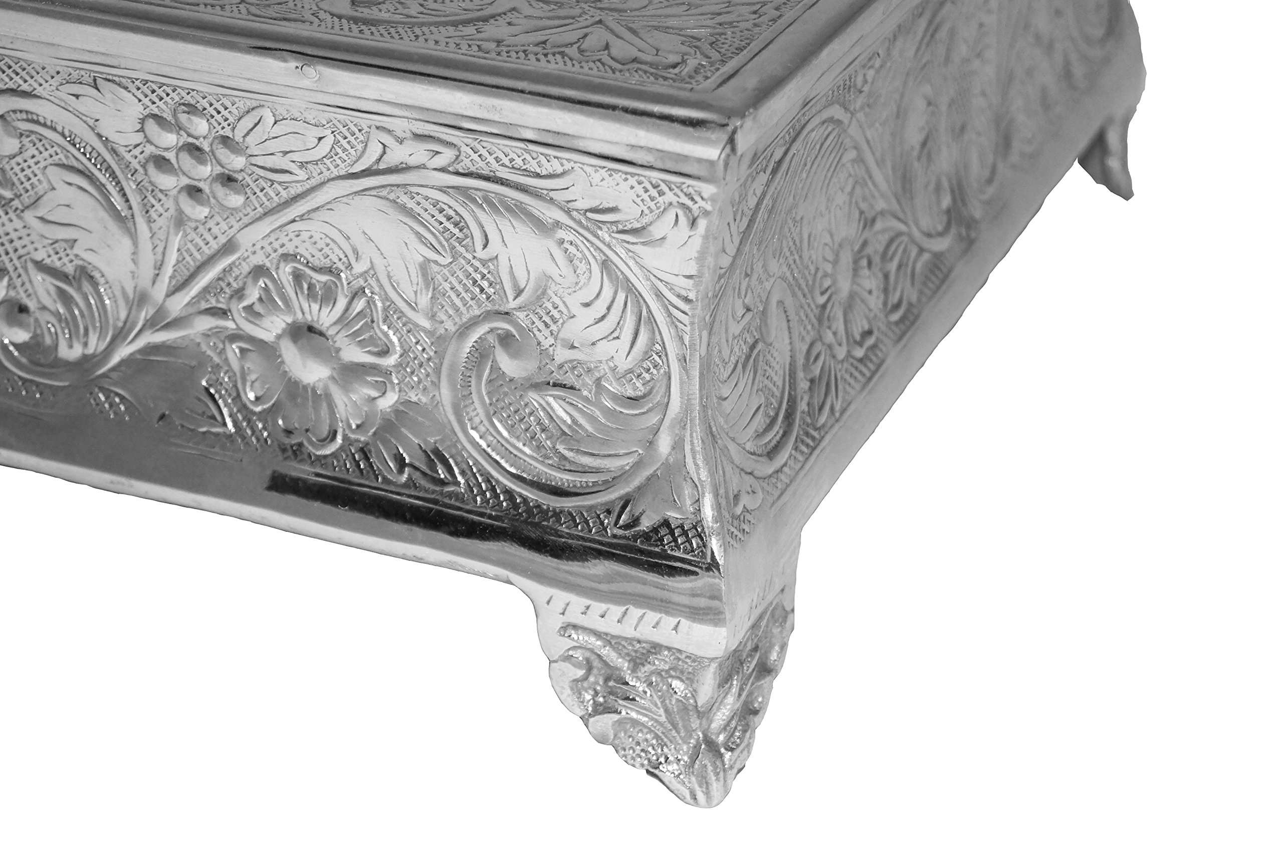 GiftBay Creations 751-22S Wedding Square Cake Stand, 22-Inch, Silver by GiftBay Creations (Image #5)