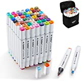 Keebor Premium 50+1 Colors Dual Tip Alcohol Art Markers, Plus 1 Blender Marker with Thick Packing, General Markers for Fine A