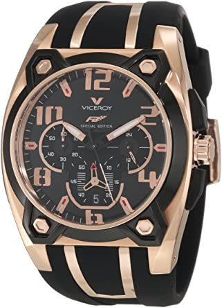 Amazon.com: Viceroy 47617 – 95 Rose Gold-Plated del hombres ...