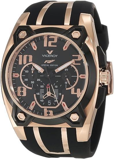 421485de4dea Viceroy 47617-95 - Reloj cronógrafo de caballero de cuarzo  Amazon.es   Relojes