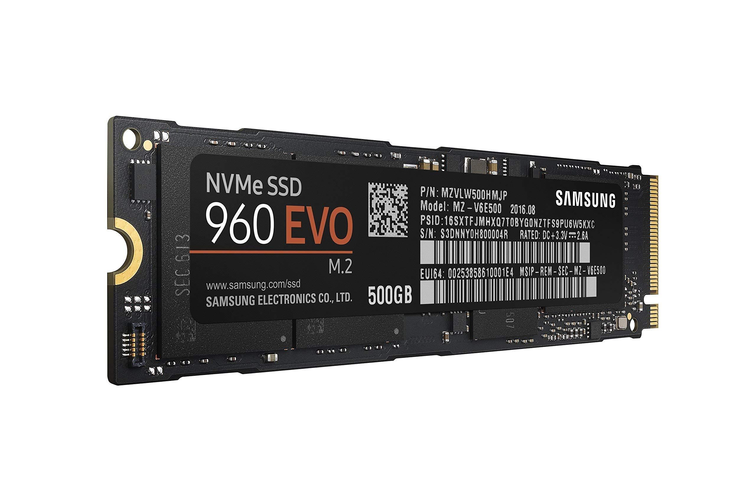 Samsung 960 EVO Series - 500GB NVMe - M.2 Internal SSD (MZ-V6E500BW) (Renewed) by Samsung (Image #1)