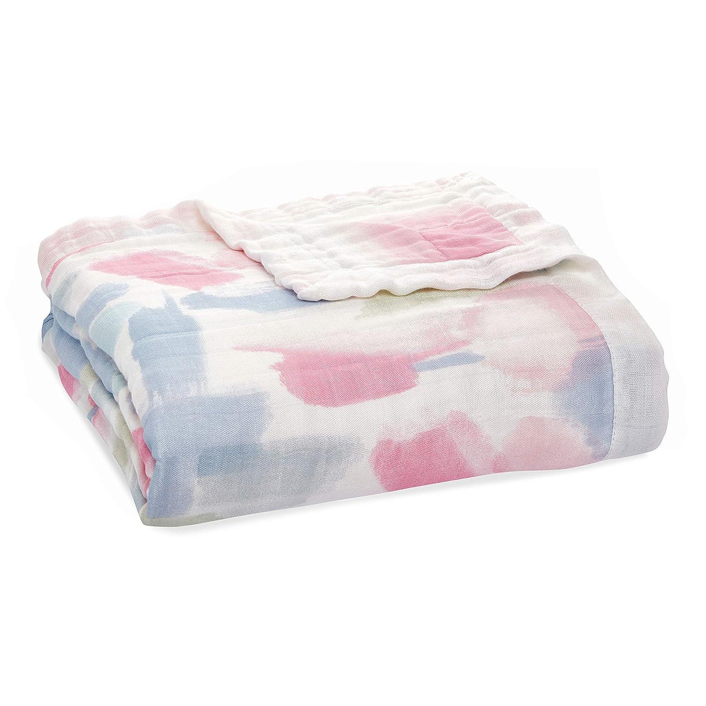 aden + anais Dream Blanket, Boutique Muslin Baby Blankets for Girls & Boys, Ideal Newborn Nursery & Crib Blanket, Unisex Toddler & Infant Bedding, Shower & Registry Gift, Florentine