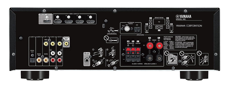 Yamaha RX-V383BL 5.1-Channel 4K Ultra HD AV Receiver with Bluetooth