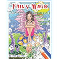 Fairy Magic Color By Number - An Enchanted Mosaic Coloring Book For Adults