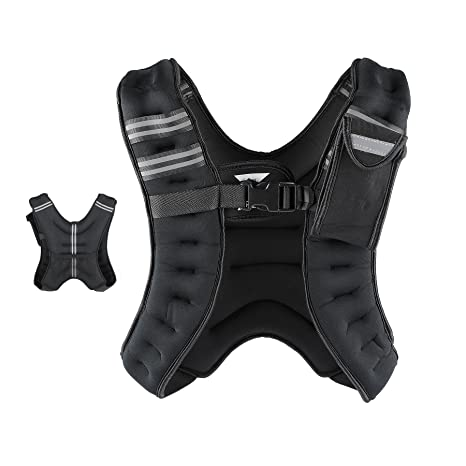 e84c3771e22 ZELUS Weighted Vest 12 lb Adjustable Weight Vest w Reflective Stripe for  Workout