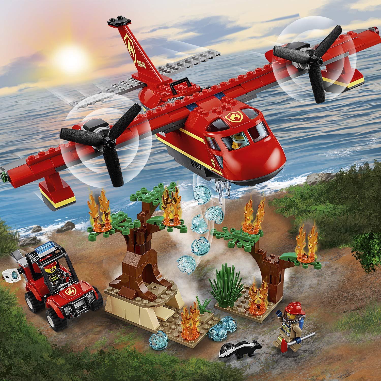 LEGO City Fire - Avión de Bomberos, Juguete Creativo de Construcción con Avión y Vehículo para Niños a Partir de 6 Años, Incluye Minifiguras de ...
