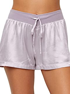 product image for PJ Harlow Women's Mikel Satin Boxer Short, Lavender, X-Large