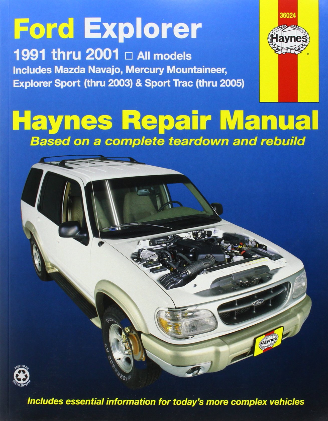 Ford Explorer, 1991-2001: Explorer Sport Thru 2003, Sport Trac 2005 (Haynes Repair  Manual): John H. Haynes, Jay Storer: 9781563925917: Amazon.com: Books