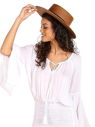0914d0f7d337e6 Janessa Leone Women's Bernt Hat, Brown, Large at Amazon Women's Clothing  store: