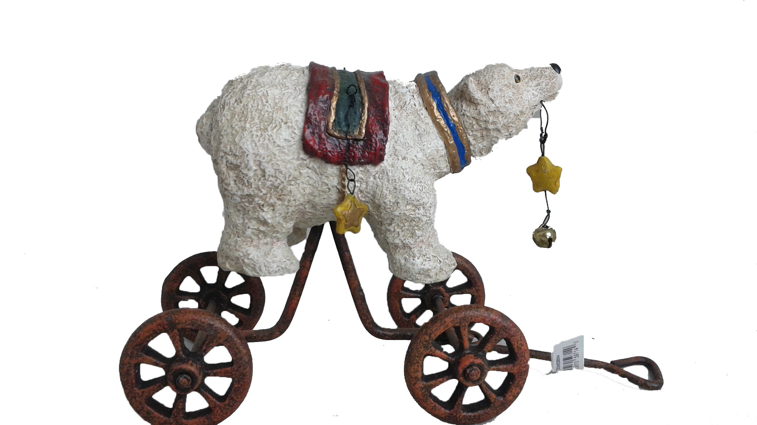 Kurt S. Adler Holiday Antique Circus Animal Pull Ornament | Collectors Edition | Retired Series (White Polar Bear) by Kurt Adler