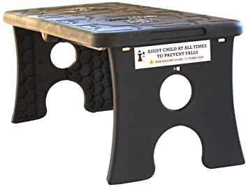 Awe Inspiring Tip Pee Toe Portable Folding Child Step Stool Black Ocoug Best Dining Table And Chair Ideas Images Ocougorg