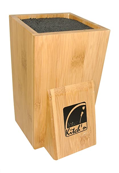 Inter Home - Bloque de madera para cuchillos (no incluye cuchillos)