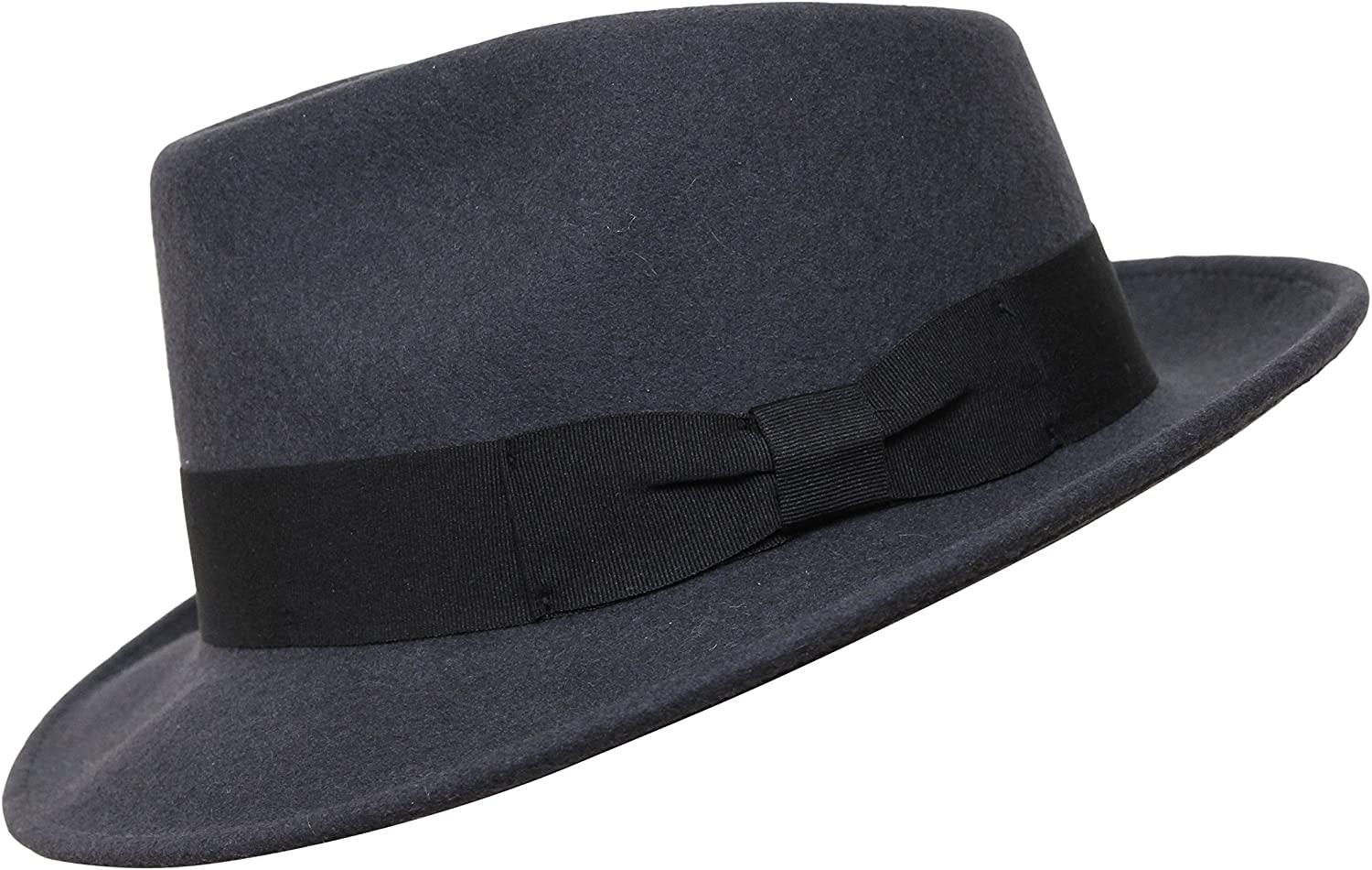 Teardrop Fedora Hut Unisex perfekt zum Reisen 100/% Wollfilz was-serabweisend Borges /& Scott B/&S Premium Doyle