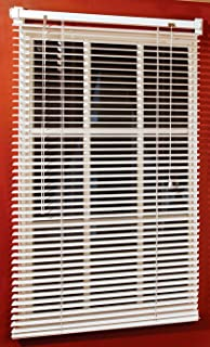 Magne 40 Inch Vinyl Mini Blind With 1 Inch Slats And 25 Inch