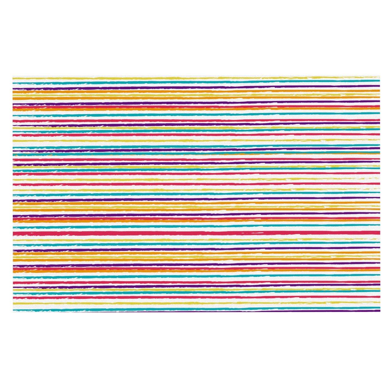 "durable service KESS InHouse MM1048ADM02 Nika Martinez ""Summer Stripes"" Abstract Dog Place Mat, 24"" x 15"""