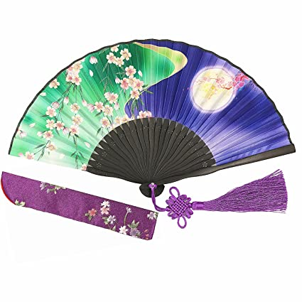 Women Summer Japanese Style Prints Bamboo Folding Fan Multi About 21cm Summer Fan Home Living Room Table Decor Party Supplies Fixing Prices According To Quality Of Products Home Decor