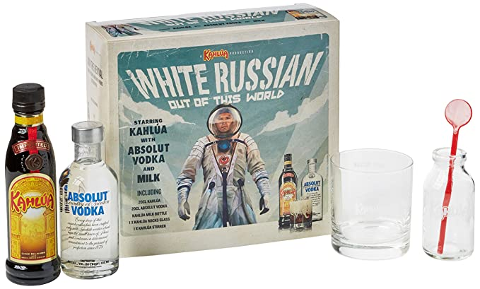 Absolut and Kahlua White Russian Gift Set, 2 x 20 cl