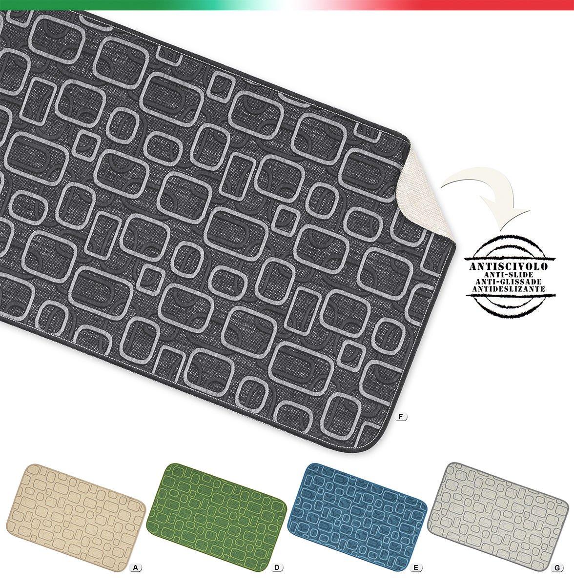 Tappeto cucina bagno camera multiuso moderno in 8 misure retro antiscivolo mod.LAMI1 54X10 BEIGE (A) EMMEVI