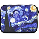 "MoKo 7-8"" Sleeve Custodia di Neoprene Morbida per Apple iPad mini, Galaxy Tab S2 8.0, Tab A 7"", Zenpad Z380, Z580C, Z170C, NVIDIA SHIELD Tablet K1, Mediapad M3 8,4"" ecc.,Notte Stellata"