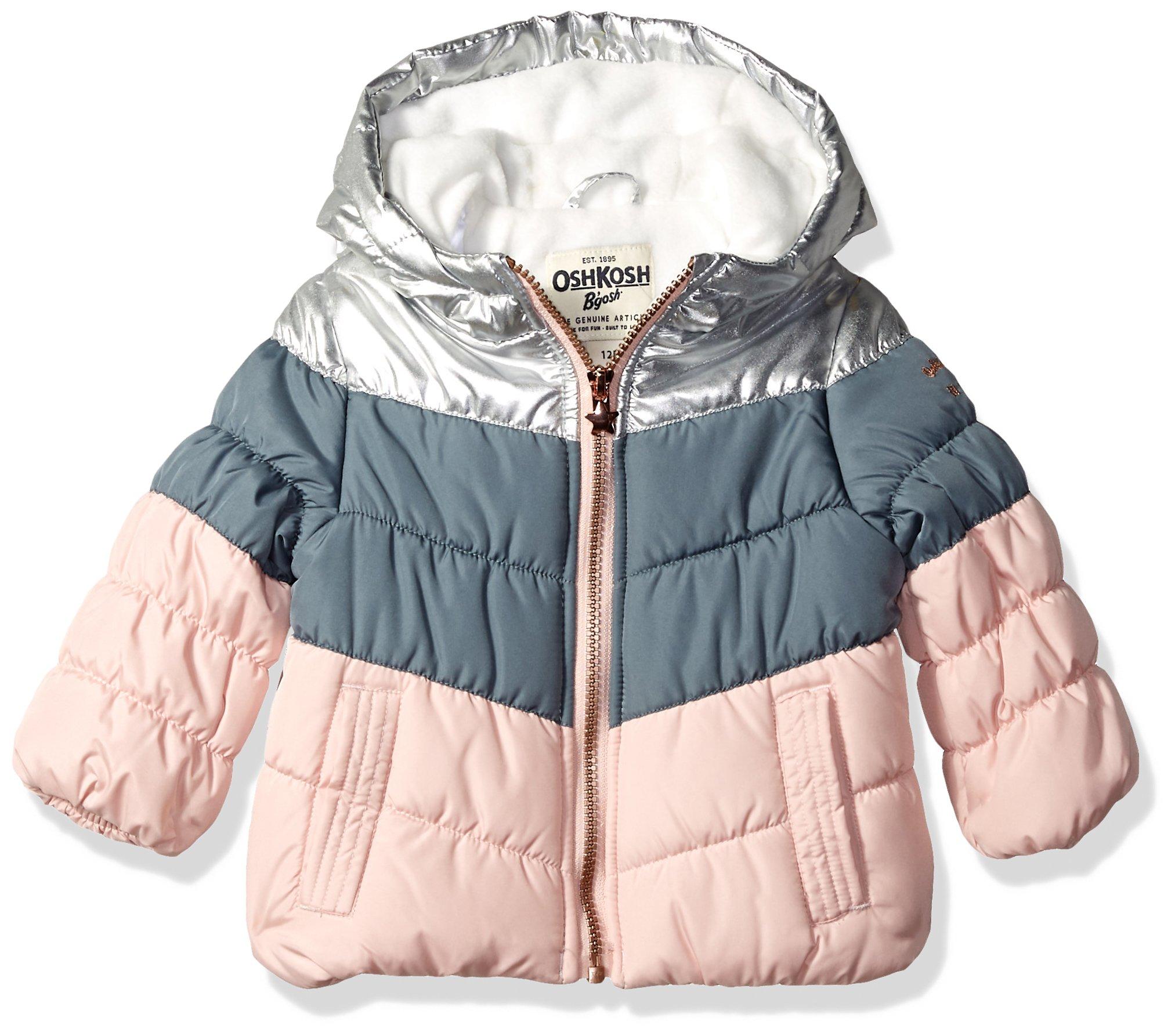 ce5d84e106f34 OshKosh B'Gosh Girls' Perfect Colorblocked Heavyweight Jacket Coat product  image