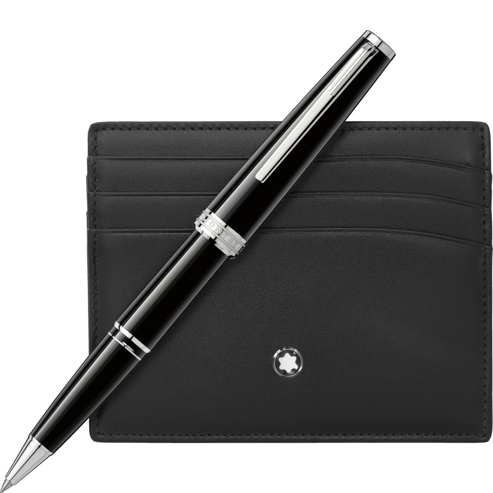 Montblanc Set with Montblanc PIX Black Rollerball and Black Pocket Holder 6cc 116118