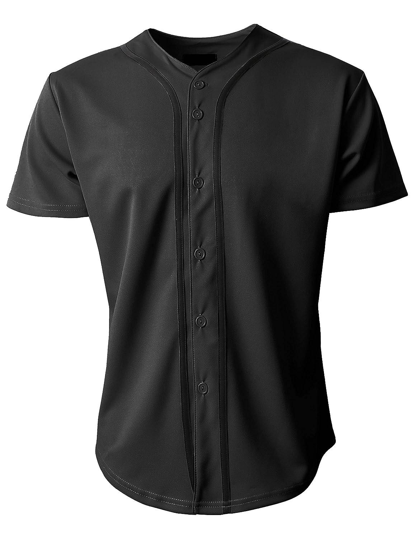KS 1KSA0002 ボタンダウンTシャツ メンズ 野球ジャージー プレーン 半袖 B07DQ41N72 XX-Large|ブラック/ブラック ブラック/ブラック XX-Large