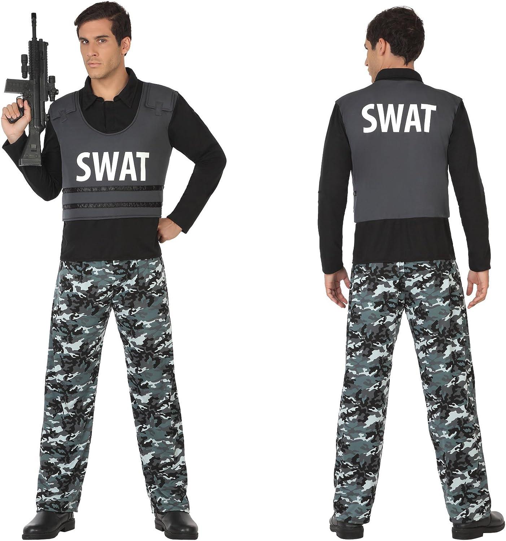 Atosa Disfraz de Policía SWAT para Hombre: Amazon.es: Juguetes y ...