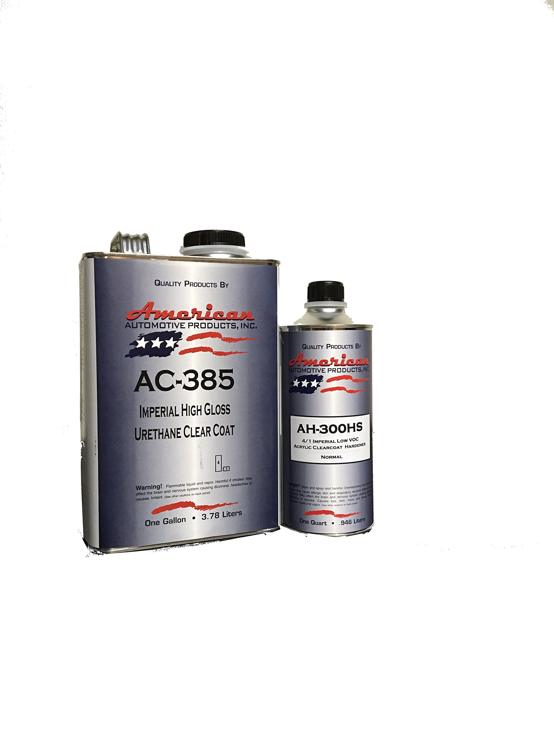 AC-385HS Automotive 2K Urethane Clear Coat Gallon Clearcoat Kit Normal Activator by American Automotive Products