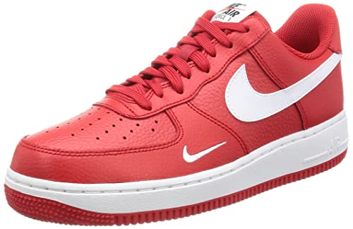 watch 537fa df4f5 Nike Men's Air Force 1 Basketball Shoe University Red/White-White-Black 11
